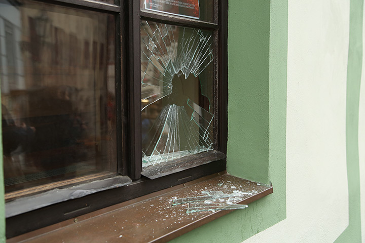 A2B Glass are able to board up broken windows while they are being repaired in Winchmore Hill.